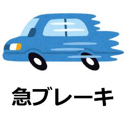 急ブレーキの停止距離の計算