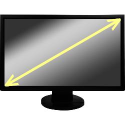 テレビのサイズの計算